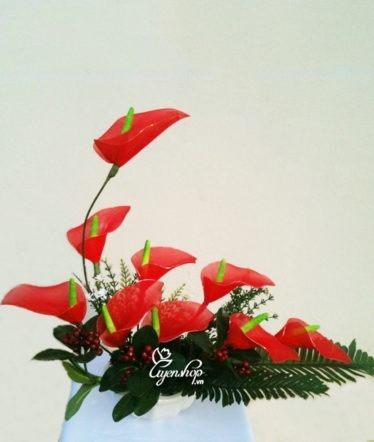 hoa voan - hoa de ban - uyenshop