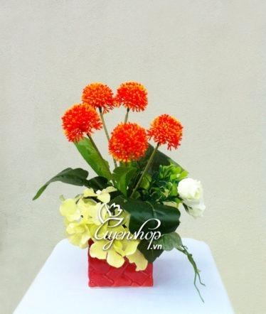 hoa để bàn - hoa lụa - uyenshop