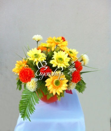 hoa lụa - hoa để bàn - uyenshop