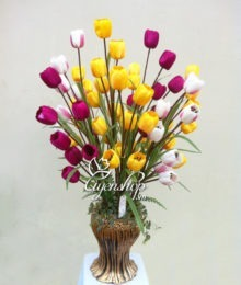 hoa tulip - hoa lụa - uyenshop
