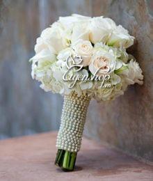 hoa cuoi - hong trang - hoa lua - uyenshop