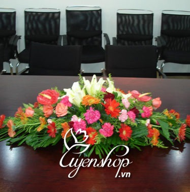 hoa phòng họp - hoa lua - uyenshop