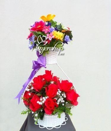 hoa trai tim - hoa lua - uyenshop