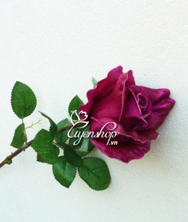 hoa hồng tím - hoa lụa - uyenshop