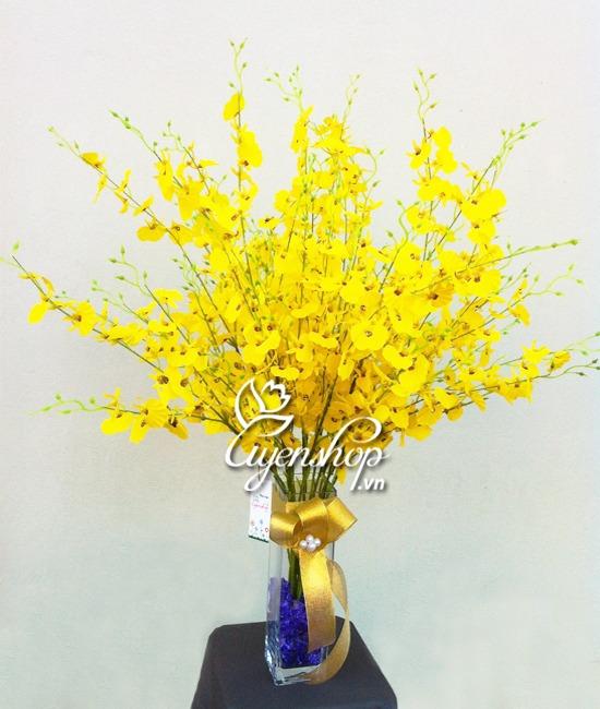 hoa lụa - vũ nữ vàng - uyenshop