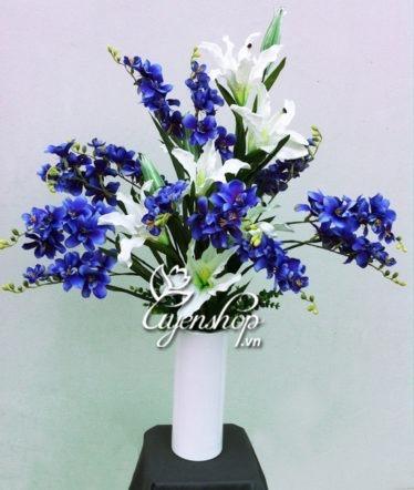 hoa lụa - đỗ quyên nhung xanh - uyenshop