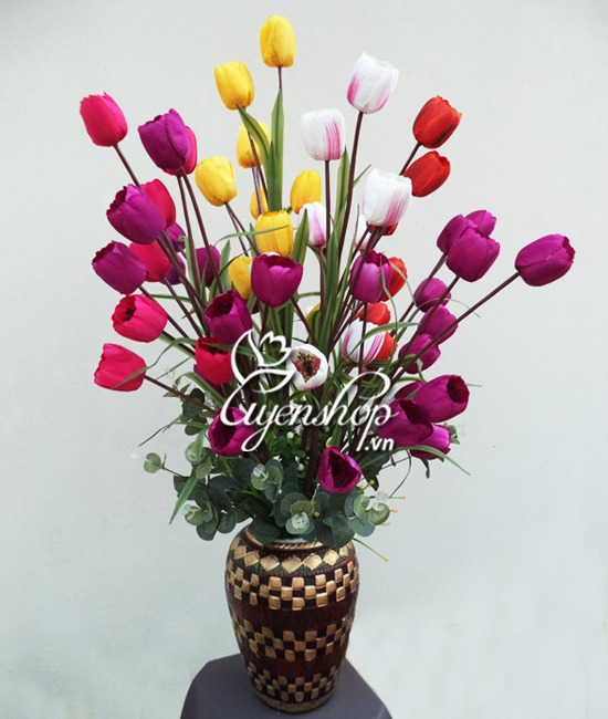 tulip nhieu mau - hoa lua - uyenshop