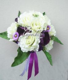 hoa cuoi - hoa lua - trang tim