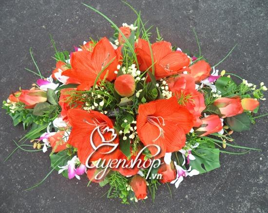 hoa phòng họp - hoa lụa - uyenshop
