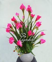 hoa lụa - hoa diên vĩ - uyenshop