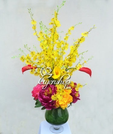 hoa lụa - hoa phòng khách - uyenshop