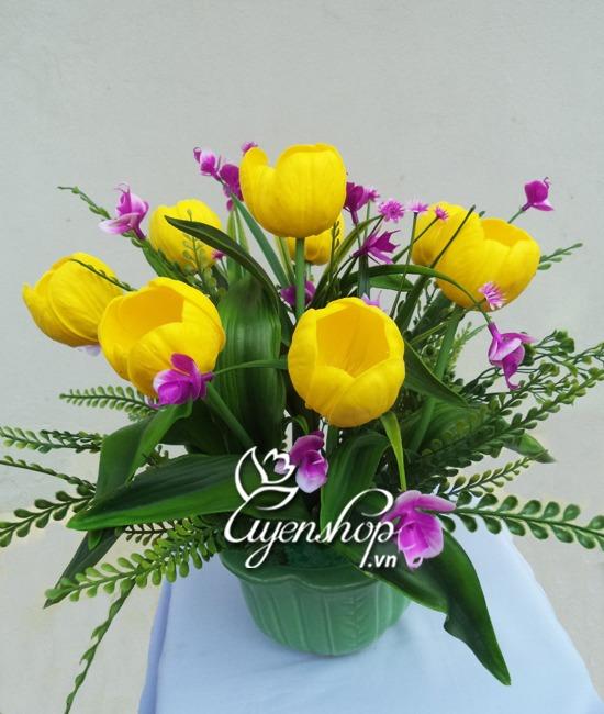 hoa tulip nho - hoa lua - uyenshop