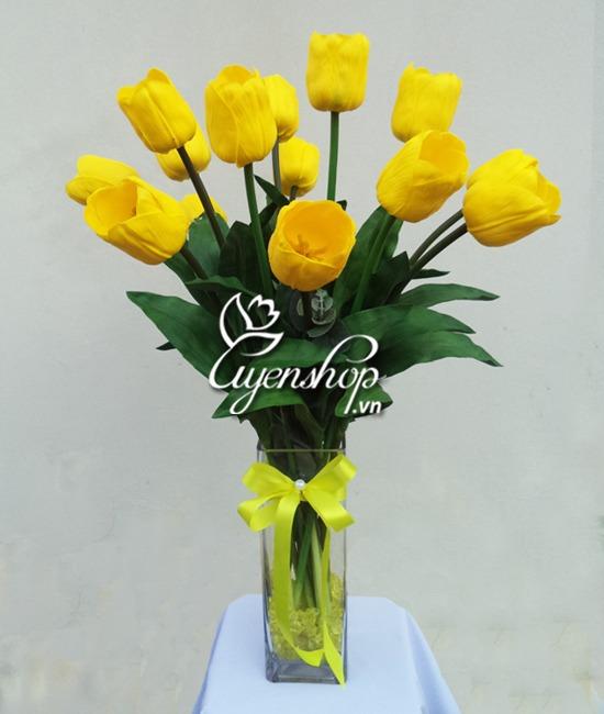 tulip vang to - hoa lua uyenshop