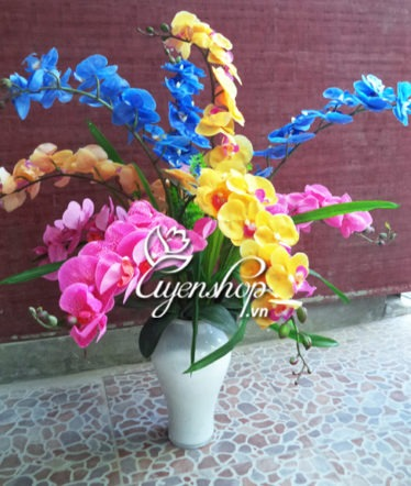 binh hoa lan ho diep - hoa lua - uyenshop