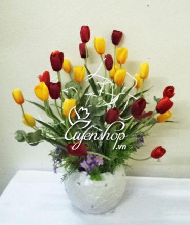 hoa giả - hoa tulip - uyenshop