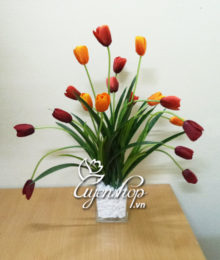 hoa lụa - hoa tulip - uyenshop