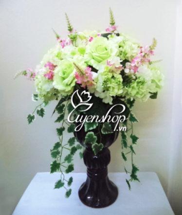 hoa lua - ly hong xanh - uyenshop