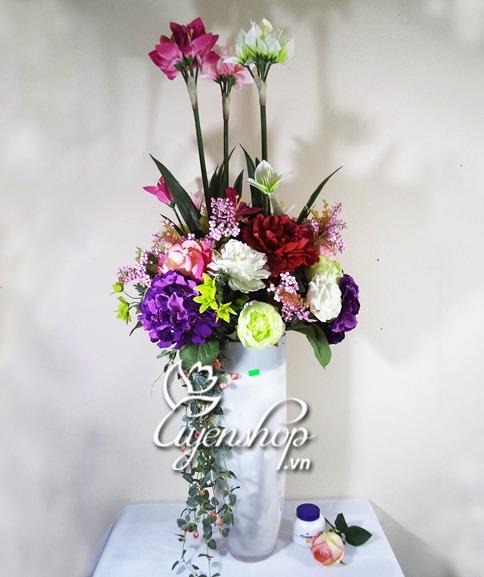 lo hoa dep - hoa lua dep - uyenshop