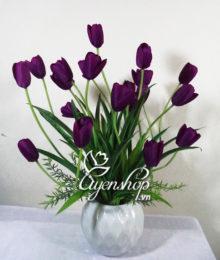hoa tulip tim - hoa lua uyenshop