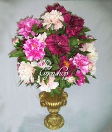 binh hoa mau don lon - hoa gia