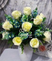 hoa hong trang - hoa lua