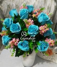 hoa hong xanh duong - uyenshop