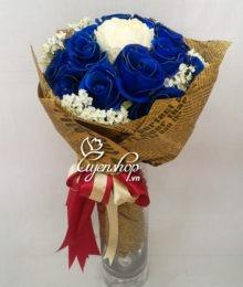 Bó hoa hồng xanh