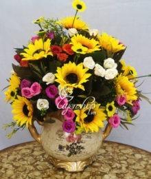 Lọ hoa hướng dương