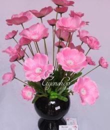 Bình hoa cánh bướm hồng