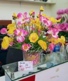 Hoa lụa để bàn